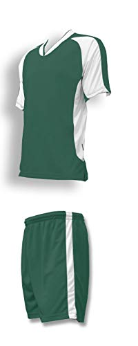 Sweeper Soccer Uniform Set for Youth or Adult Soccer Teams - Size Adult S - Forest Jersey, Forest ()