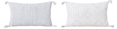 Reversible Kerra Dot Oversize Lumbar Throw Pillow White/Blue - Decor Therapy