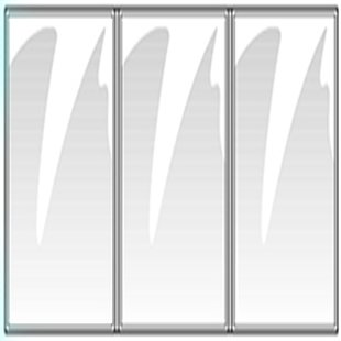 24 Menu Covers 6'' Wide x 9.5'' Tall • 100% USA-MADE Commercial Quality • Fold-Out Style SideOpen 3 Pocket - 6 View. All Clear Vinyl #ACV-300-6X9.5. SEE MORE: Type MenuCoverMan in Amazon search.