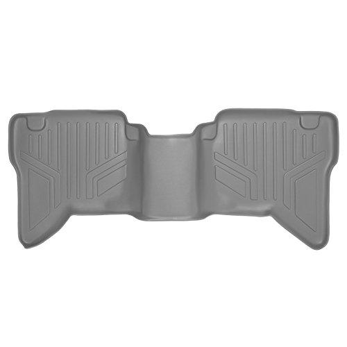 SMARTLINER Floor Mats 2nd Row Liner Grey for 2007-2014 Toyota Hilux Vigo