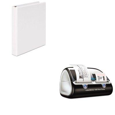 Amazon.com : KITDYM1752266UNV20962 - Value Kit - Dymo LabelWriter Twin Turbo Printer (DYM1752266) and Universal Round Ring Economy Vinyl View Binder ...