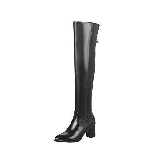Black Black Black Alti sopra Ginocchio Il Stivali Donna duri Boots Elastici Elastici Elastici Elastici Tacchi da Women's wxZ7PqTY7