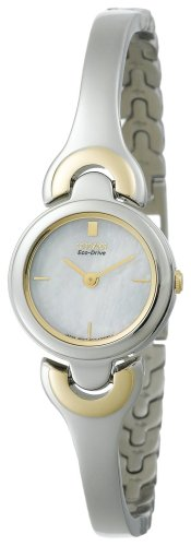 Citizen Women's EW9294-55D Eco-Drive Silhouette Two-Tone Bangle Watch