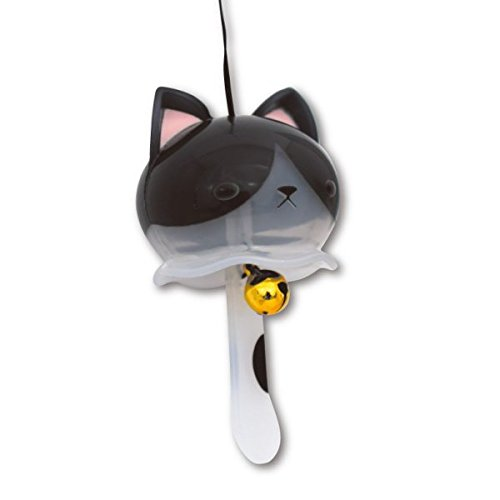 Nyanko wind - bell mascot capsule colletion black x white cat capsule toy ()