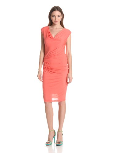 VELVET-BY-GRAHAM-SPENCER-Womens-New-Fine-Slinky-Cowl-Neck-Dress