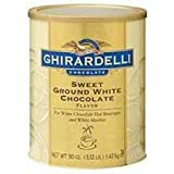 Ghirardelli Sweet Ground White Chocolate Flavor Powder - 3.12 lb. can, 6 cans per case