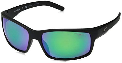 Arnette Men's Fastball Polarized Iridium Rectangular Sunglasses, MATTE BLACK, 61 mm ()
