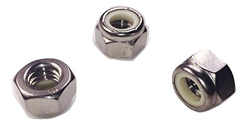 Serval Products 8-32 Nylon Insert Lock Nut Stainless Steel 18-8 Stainless Steel (304) Pack of 100