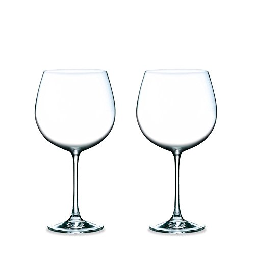 Magnum Burgundy All-purpose Clear Red Wine Glasses, Lead-Free Glass, 23 oz, Set of 2