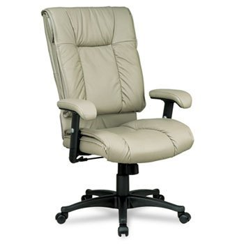 Office Star™ 93 Series Executive Leather High Back Swivel/Tilt Chair CHAIR,EXEC LTHR,HI BCK,TN H5504E (Pack of2)
