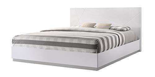 Bedroom Naples Modern King Bedroom Set in White, 5-Piece modern bedroom furniture sets