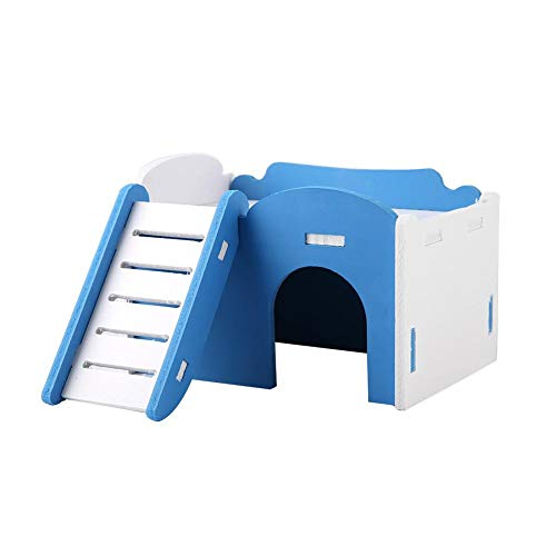 3 Colors Double Layer Hamster House Hideout Hideaway Play Toys with Stairs for Small Animals Pet Dwarf Hamsters…