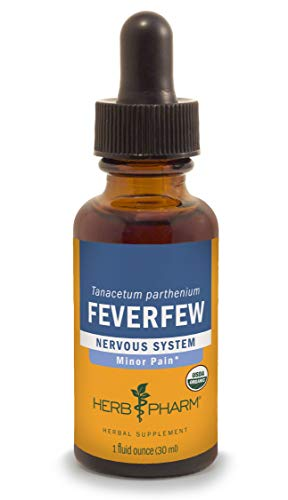 Feverfew Leaf Extract - Herb Pharm Certified Organic Feverfew Liquid Extract for Minor Pain Support - 1 Ounce