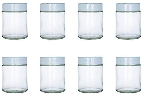 Extra Glass Jars Fit Instant Pot, Euro Cuisine GY1920, and Gourmia GYM1710 Yogurt Makers, Set of 8