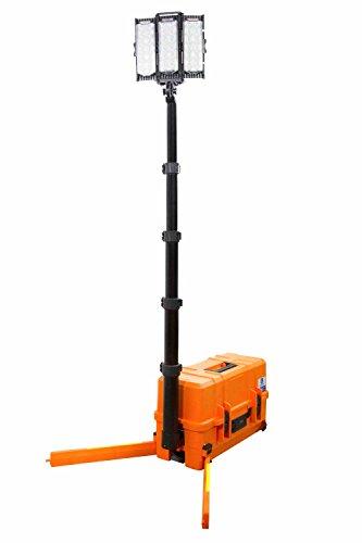 108W Portable Emergency LED Light Tower - 10 000 Lumens - USB Port & 12V Socket - 5.25' Tall Tower by Larson Electronics