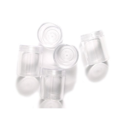 Shipwreck Beads Plastic Screw Top Jar, 50 by 40 mm, Clear, - Beading Jars