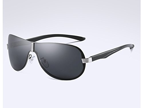 black de Visión Sol de de TL Gafas Gafas Sol Viajes Masculina Gris Sunglasses polarizadas Gafas silver para Hombre Guía gray Sol de Hombres Gafas Sol Nocturna pwEg1n