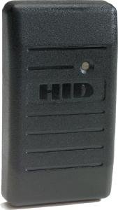 HID ProxPoint Plus 6005 (6005BGB00) 125 kHz Mini Mullion Proximity Reader, Classic Charcoal Gray, Pigtail Strip