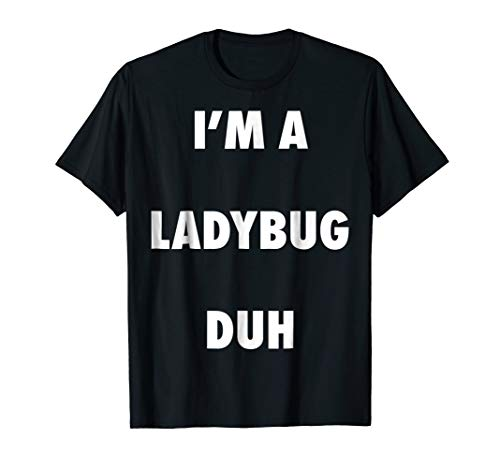 Easy Halloween Ladybug Costume Shirt for Men Women Kids