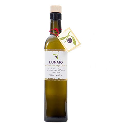 Lunaio Seggiano Italian Extra Virgin Olive Oil 1000ml – Cold Pressed, Handpicked & Handmade – Made predominantly from…