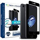 Tech Armor Apple iPhone 7 (4.7-inch) 3D Curved Edge Glass Screen Protector [1-Pack] for Apple iPhone 7 (Black)
