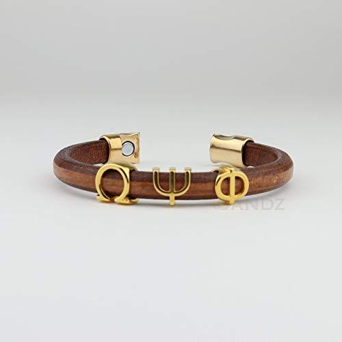 - Omega Psi Phi Leather bracelet