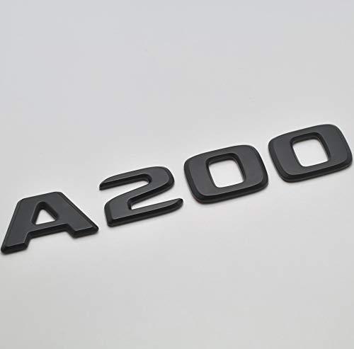 W177 Emblema nero opaco A200 per bagagliaio posteriore del bagagliaio per modelli A Class Benz W176 AMG