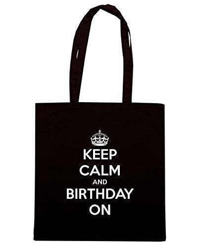 AND KEEP Shopper ON Nera Borsa TKC0888 CALM BIRTHDAY 1vUHnn6qwx