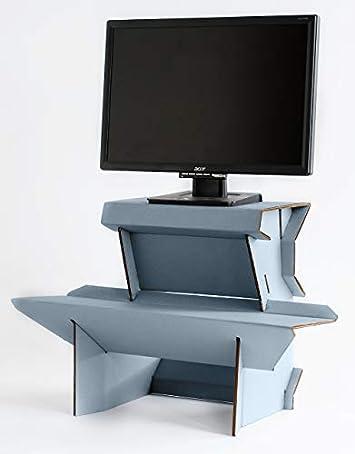 Spark by Ergodriven 26 Standing Desk in 3 Height Sizes Sit Stand Converter – Desktop Riser – Platform for Monitor – Laptop Workstation – Large