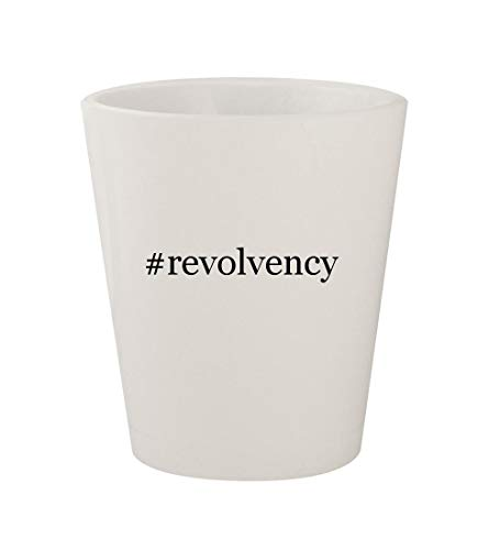 #revolvency - Ceramic White Hashtag 1.5oz Shot Glass