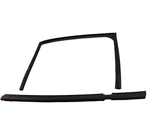 Door Window Guide Weatherstrip Seal Set Rear Right Side Black Jaguar XJ8