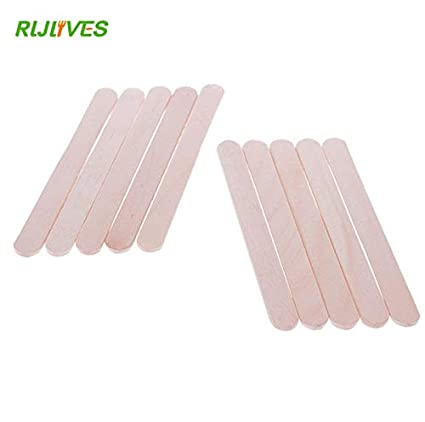 Cacys-Store - 20Pcs/Lot Ice Cream Sticks Natural Wooden