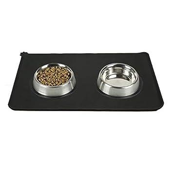 0.5cm Wicemoon 1pcs Estera de Alimentaci/ón del Animal Dom/éstico para El Perro de Gato Silicona Gris Beber Alimentos Mantel 48.5 30