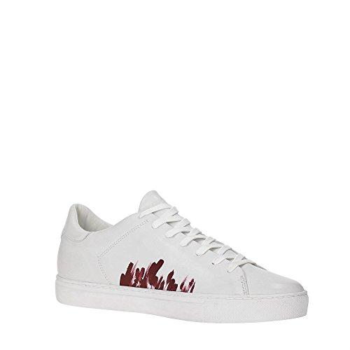 Crime London 11260S17B Sneakers Hombre BIANCO/BORDEAUX 42
