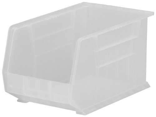 Akro-Mils 30260 Plastic Storage Stacking AkroBin, 18-Inch by 11-Inch by 10-Inch, Clear, Case of ()