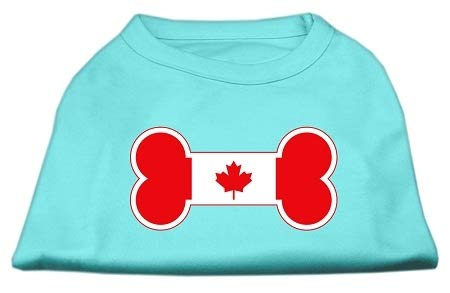 Mirage Pet Products Bone Shaped Canadian Flag Screen Print Shirt, 3X-Large, -