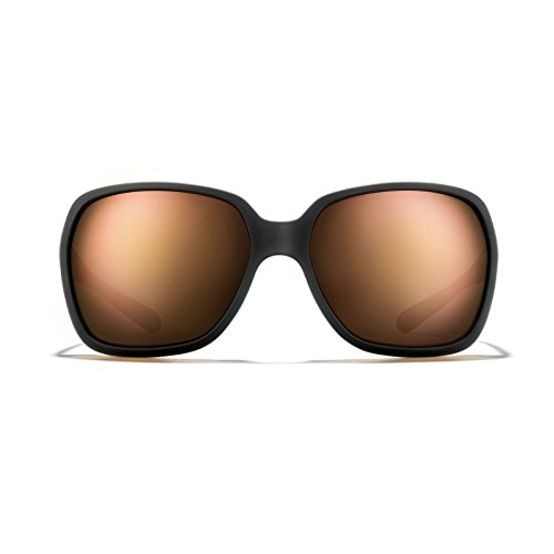 ROKA Monaco Performance Sunglasses for Men and Women Matte Black Frame - Bronze Lens with Rose Gold - Sunglasses Monaco