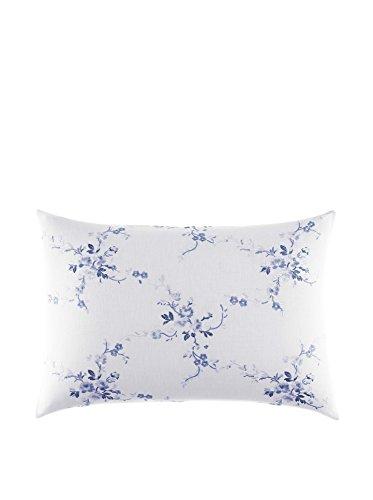 Laura Ashley 211395 Charlotte Breakfast Pillow, Blue, 14x20 (Blue Breakfast)