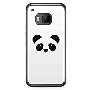 HTC One M9 Transparent Edge Phone Case Panda Phone Case Animal Phone Case Cute Panda M9 Cover with Transparent Frame