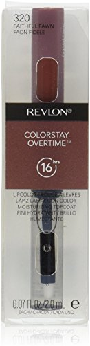 Revlon ColorStay Overtime Liquid Lip Color, Faithful Fawn 320 0.07 oz Pack of 4