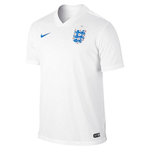 NIKE England 2014 Home Stadium Mens Soccer Shirt, White/Blue, L