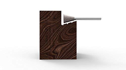 Kutzall Original Dove Tail Burr, 1/8'' Shaft (3.1mm) - Coarse, Tungsten Carbide Coating: 3/8'' (9.5mm) Head Diameter x 1/2'' (12.7mm) Head Length - DT-38-E