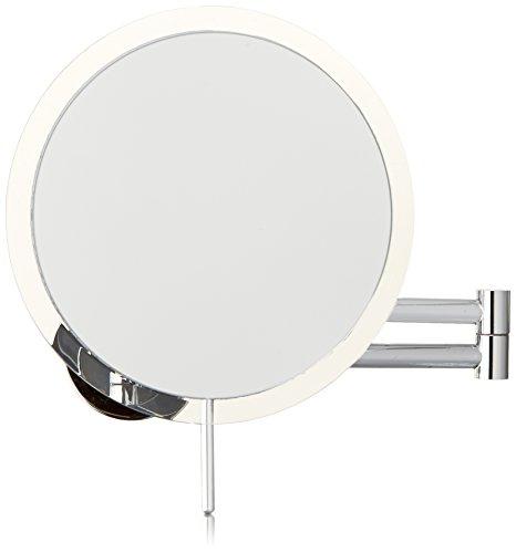 Danielle Enterprises Wall Mount Rimless Mirror, 5X Magnification, Silver