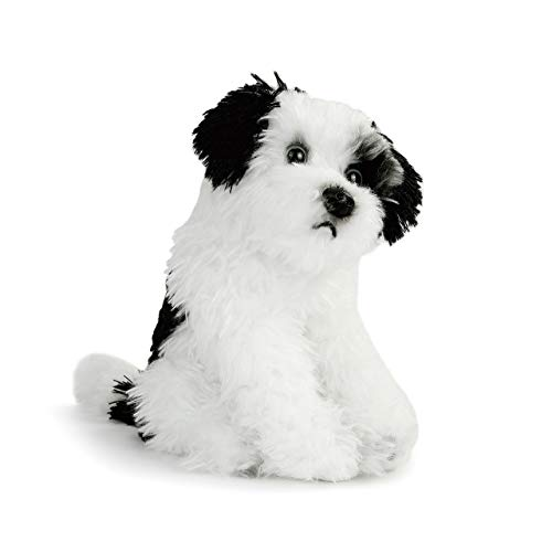 DEMDACO Terrier Mix Rescue Breed Dog White 10 inch Plush Fabric Stuffed Figure Toy