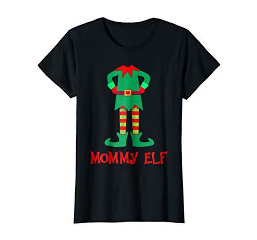 Womens Elf Costume T-Shirt Kid's Christmas buddy Pajama Gift Tee -