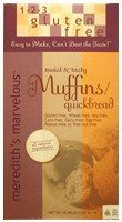 123 Gluten Free Meredith's Marvelous Muffins/Quickbread Mix, 16.48-Ounce Boxes (Pack of 3)