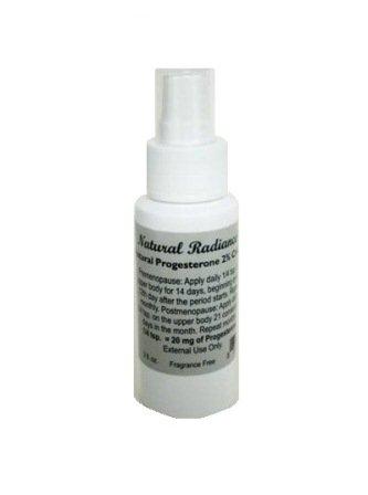 Eclat Naturel progestérone pompe Crème Bouteille, non parfumé, 2 once