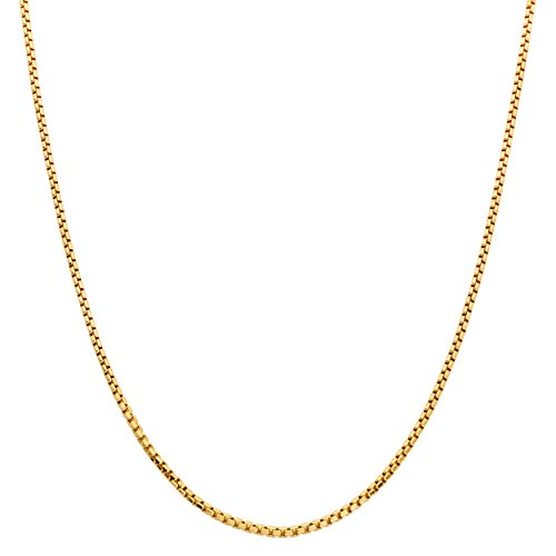 (Mr. Bling 10K Yellow Gold 2.5mm Open Hollow Venetian Box Chain Necklace (26))