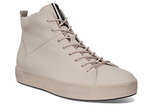 (ECCO Men's Soft 8 High Top Fashion Sneaker (46 M EU (12-12.5 US), Moon Rock))