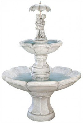 Henri Studios Fountains - Henri Studio April Showers Fountain - Stone Finish